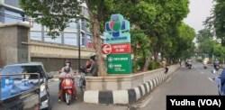 Akses pintu masuk menuju Rumah Sakit Dr. Moewardi, Solo. (Foto: VOA/ Yudha Satriawan)