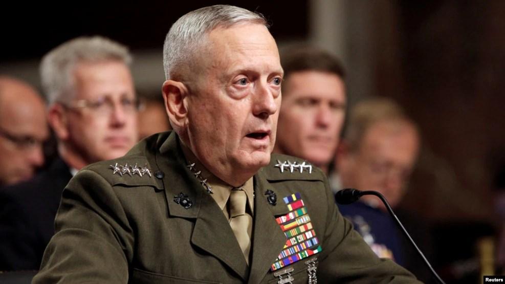 Tướng Mattis từng đảm nhận chức Tư lệnh Bộ chỉ huy miền Trung, có trách nhiệm về các hoạt động quân sự của Mỹ ở Trung Đông, và là Tư lệnh Tối cao của liên minh NATO.