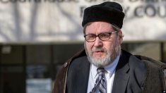 FILE - In this Feb. 19, 2015 file photo, Rabbi Bernard Freundel leaves the D.C. Superior Court House in Washington.