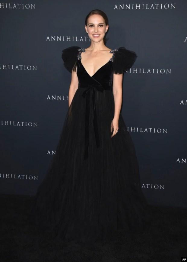 """Natalie Portman en el estreno de """"Annihilation"""", en Los Angeles. Feb. 13, 2018."""