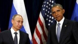 Tổng thống Mỹ Barack Obama và Tổng thống Nga Vladimir Putin tại Liên Hiệp Quốc, New York, ngày 28/9/2015.