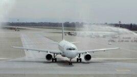 Máy bay kiểu Airbus A320 tại Milan.