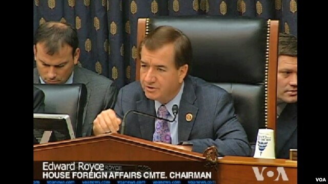 Dân biểu Ed Royce, Chủ tịch Ủy ban Đối ngoại Hạ viện Hoa Kỳ