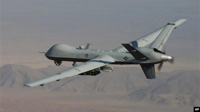 Máy bay không người lái tuần tra ở Afghanistan, trong khu vực gần biên giới với Pakistan.