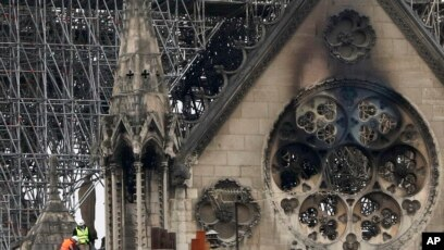Experts Inspect The Damaged Notre Dame Cathedral After The Fire In Paris April
