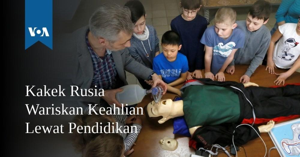 Kakek Rusia Wariskan Keahlian Lewat Pendidikan