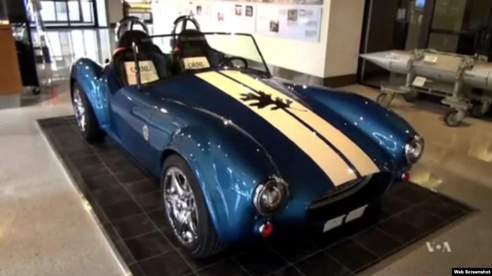 Một chiếc xe hơi thể thao được sản xuất bằng công nghệ in 3-D.