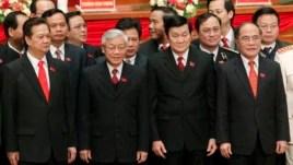 Lãnh đạo Đảng Cộng sản Việt Nam sau cuộc bầu cử Đại hội Đảng lần thứ 11 tại Hà Nội ngày 19 tháng 1 năm 2011.