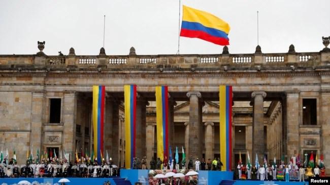 Vista general de la Plaza Bolívar durante la ceremonia de inauguración del nuevo presidente de Colombia, Ivan Duque, en Bogotá, Colombia, el 7 de agosto de 2018. REUTERS / Carlos Garcia Rawlins -