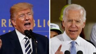 Tổng thống Donald Trump (trái) và ông Joe Biden.