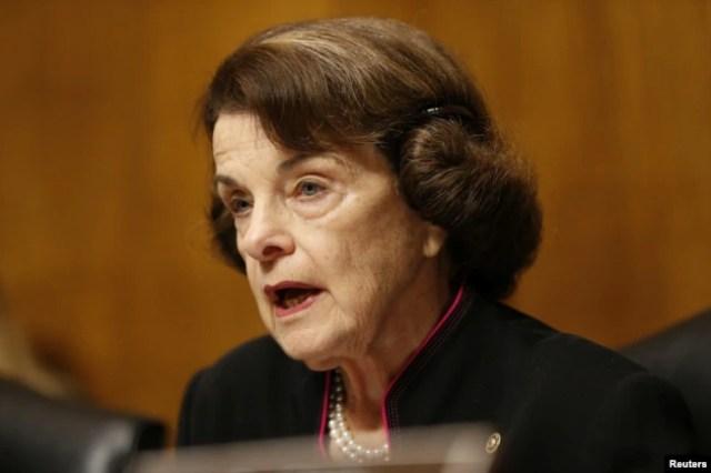 Senadora demócrata Dianne Feinstein, miembro de más alto rango de su partido en el Comité Judicial .