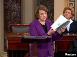Dianne Feinstein, demócrata por California, miembro de alto rango de la Comisión Judicial del Senado de EE.UU.