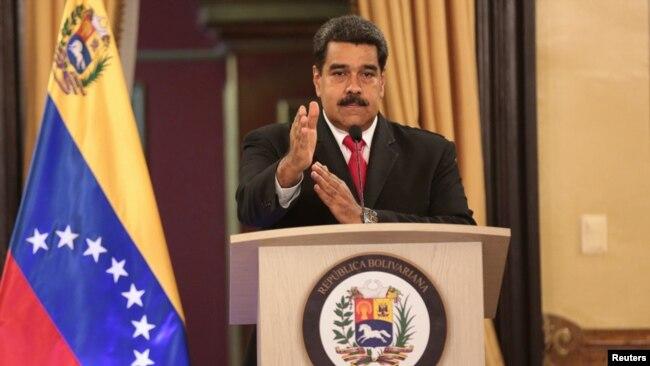 El presidente de Venezuela, Nicolás Maduro, habló el domingo, 5 de agosto de 2018 en Caracas.