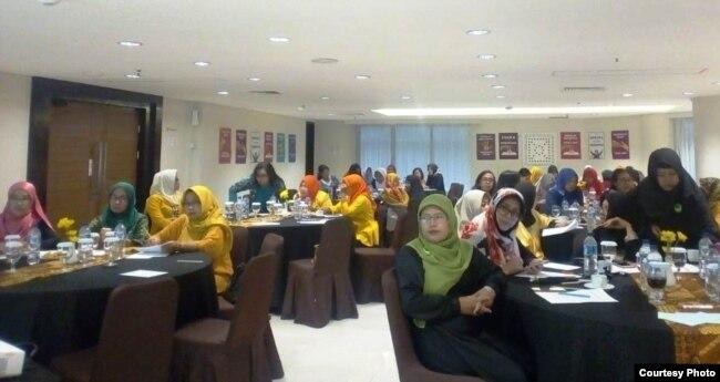 Ilustrasi. Sebanyak 64 Caleg perempuan DIY mengikuti pelatihan kampanye tanpa politik uang pada tahun 2019. (foto: IDEA Yogya)