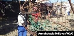 Demolished stalls in Bulawayo.