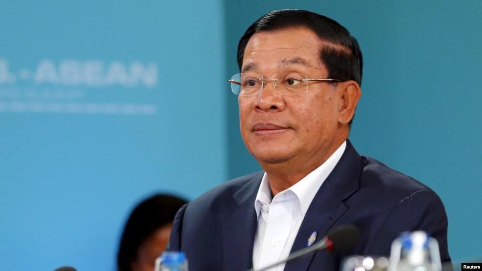 Thủ tướng Campuchia Hun Sen trong một cuộc họp của ASEAN hồi tháng 2, 2016.