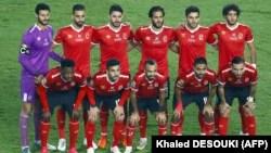Le onze de départ d'Al Ahly au Stade international du Caire, en Egypte, le 27 novembre 2020.