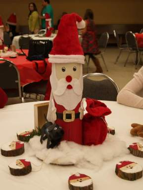Table centerpiece created by the youth puppy raisers