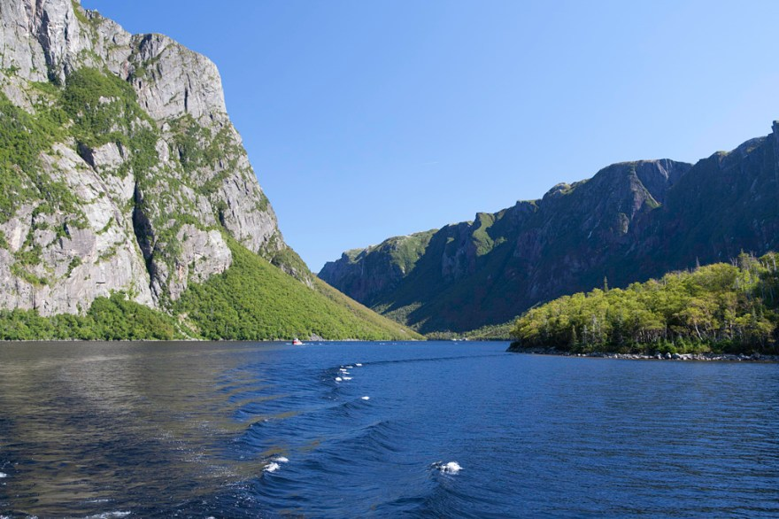 Despite appearances, Western Brook Pond is actually a lake, not a fjord