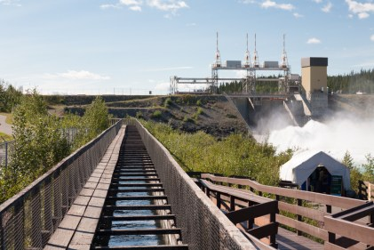 Whitehorse Fishway: At 1,200', it is the longest fishladder in the world