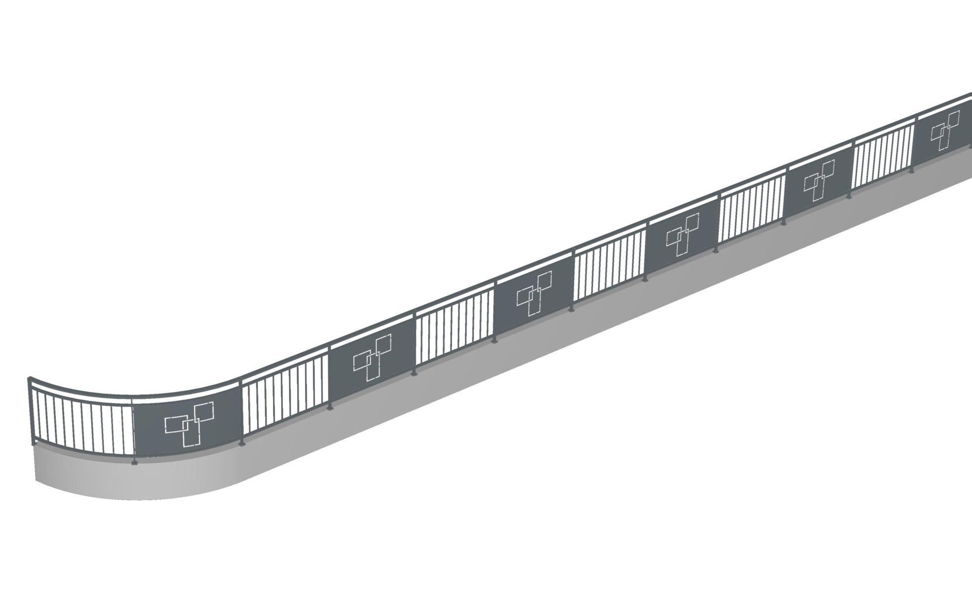 Garde corClôture-barrière-Isère-sur mesure-métal-arrondis-conception-barrière-Isère-sur mesure-métal-arrondi-conception