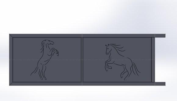 Portail coulissant-métal-Vinay-sur mesure-automatisé-conception
