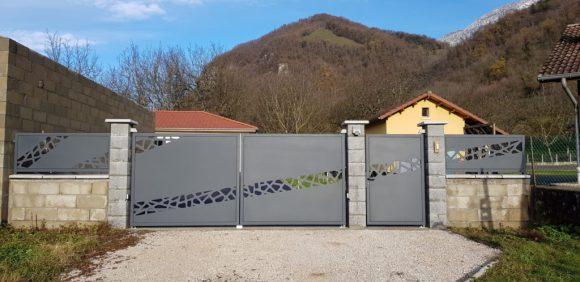 Portail-métal-Isère-design-automatisé