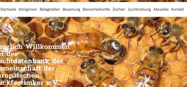Herzlich Willkommen in der offiziellen Pedigree-Datenbank der Gemeinschaft der europäischen Buckfastimker.