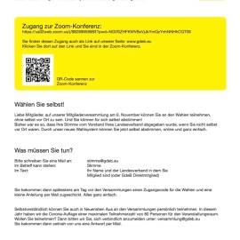 Mitgliederversammlung 2020/21 – Zugang zur Zoom-Konferenz
