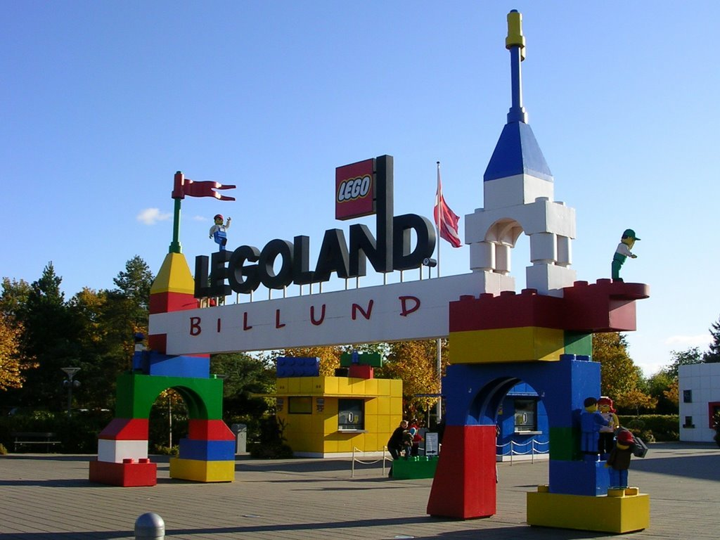The park is fully made of the details of the LEGO designer