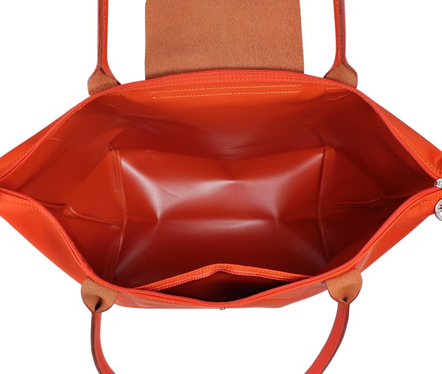 Model Planetes 1899 Colour Orange Description Exterior Polyamide Body With Cowhide Leather Trimmings Featuring Silver Tone Hardware Double Top Handles