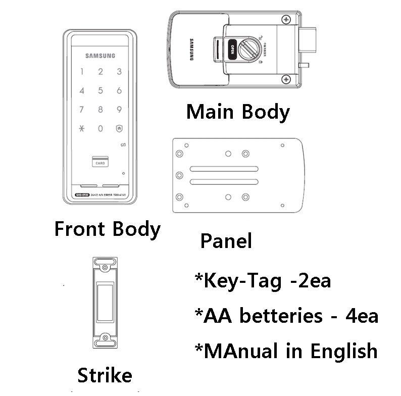 Samsung Ezon SHS-2920 SAMSUNG DIGITAL DOORLOCK SHS-2920