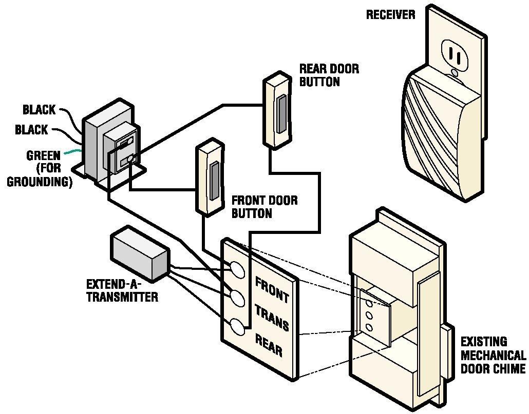 hight resolution of door chime wiring circuit diagram