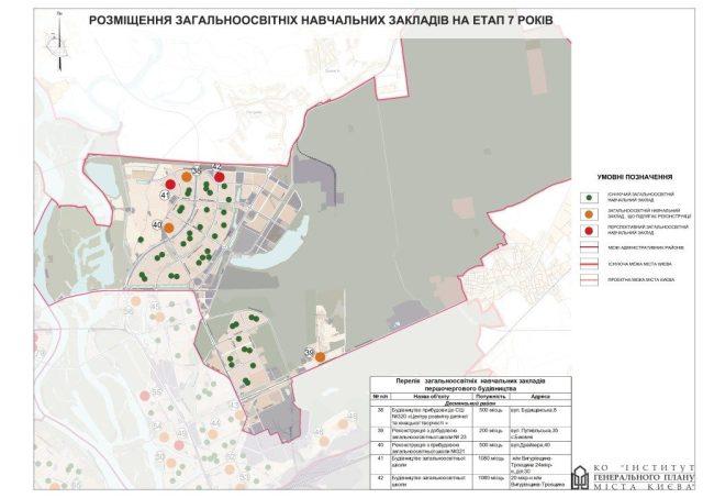 Генплан Деснянского района новые школы