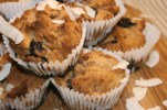 Blueberry & coconut muffins