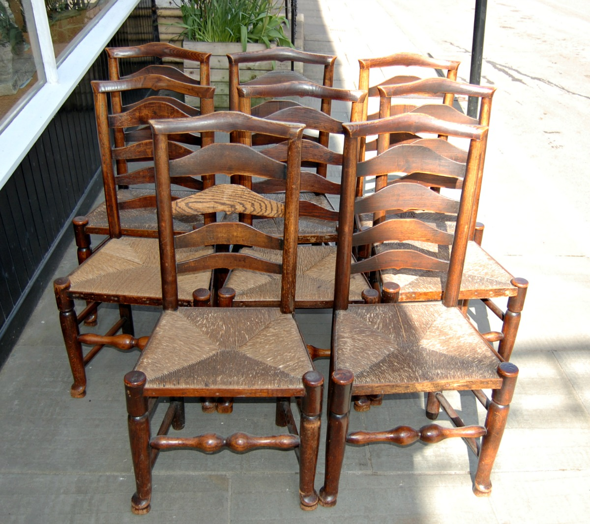 antique ladder back chairs value folding chair measurements c1800 billinge