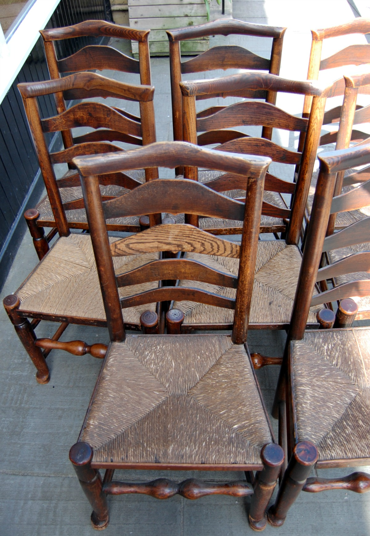 antique ladder back chairs value barber for sale used c1800 billinge