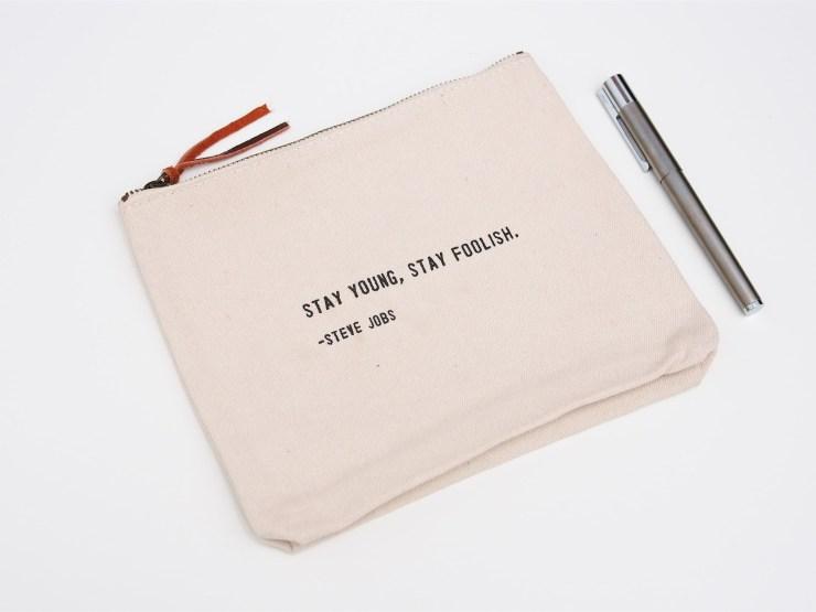 Zipper Bag Steve Jobs Quote 2