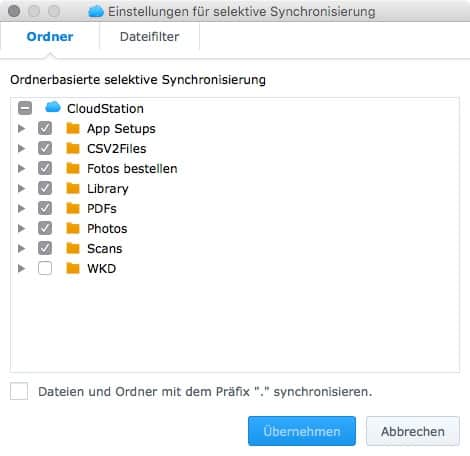 Cloud Station Client Screenshots OS X 2