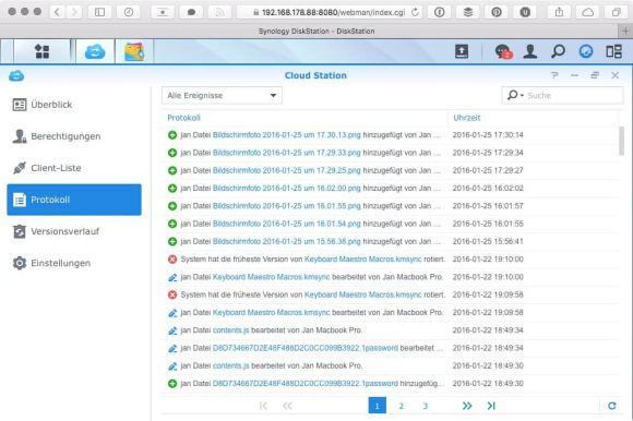 Cloud Station Screenshots OS X 5