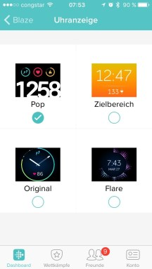 Verschiedene Watchfaces