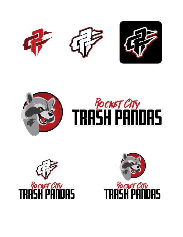 Rocket City Trash Pandas Logo Revision A
