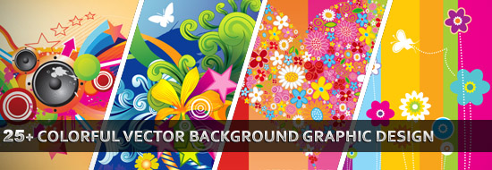 25 colorful vector background