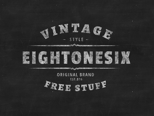 PSD Badges Vintage Retro Style Design Graphic