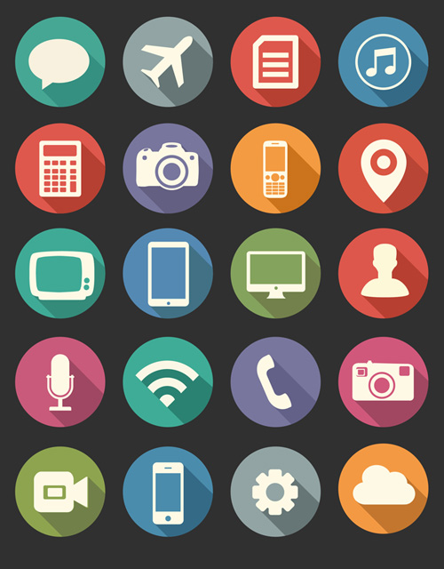 Vector Flat PSD Icons Free Download Icons Graphic