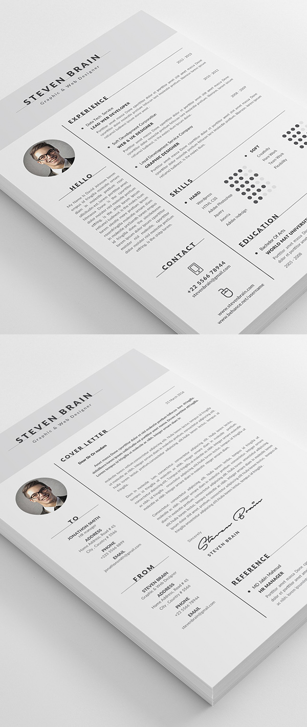 Template Of A Resume 50 Best Resume Templates Design Graphic Design Junction