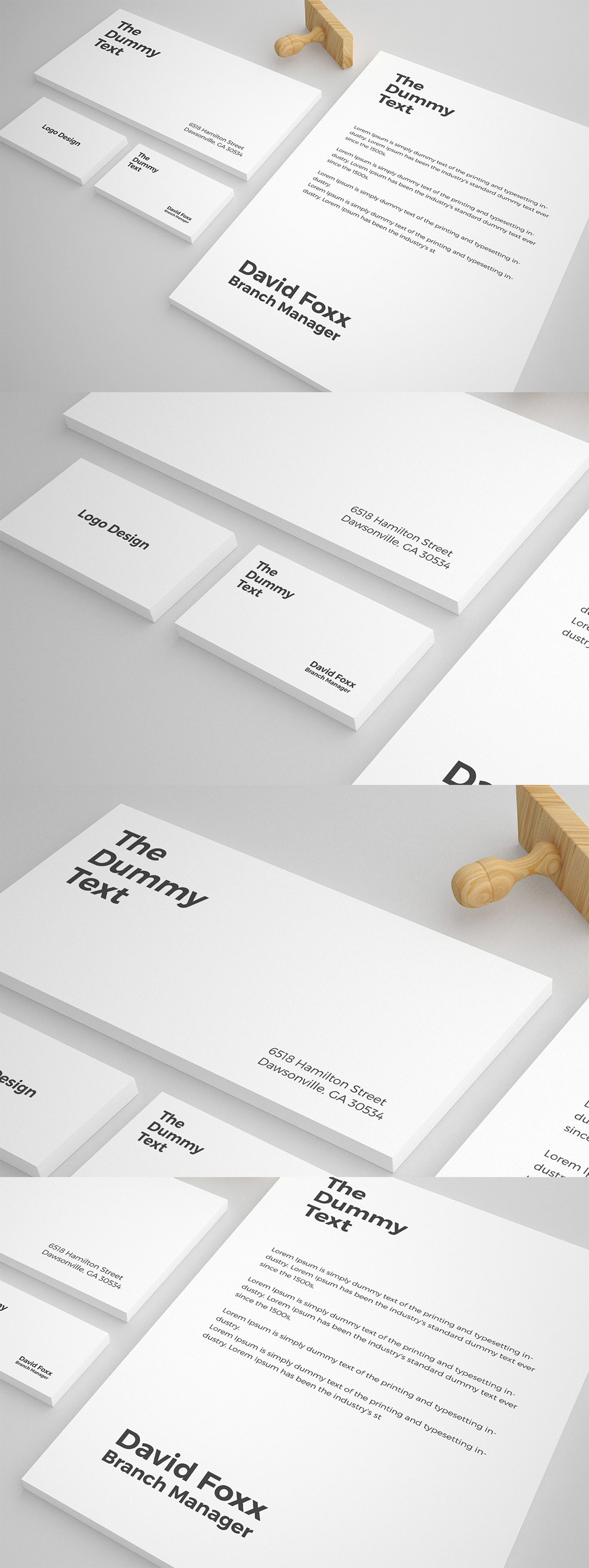 Free Stationary Mockup PSD Template  Freebies  Graphic
