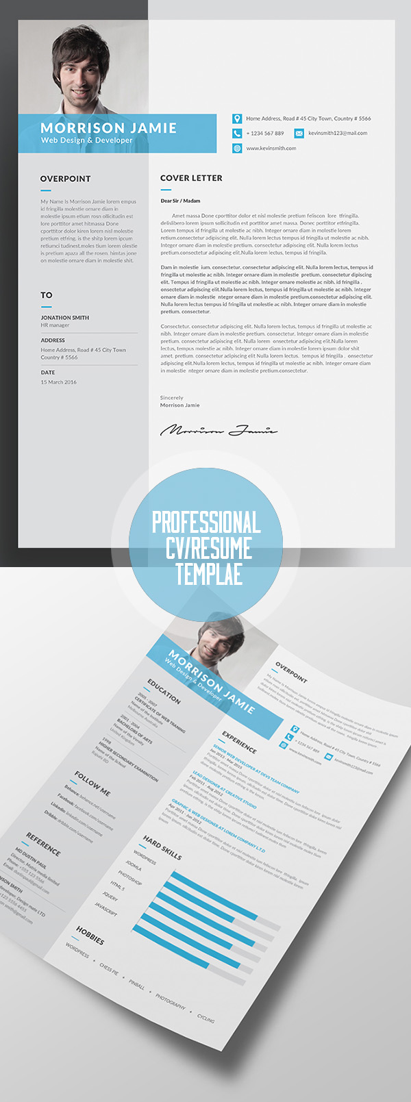 Clean Resume Word/indesign Template