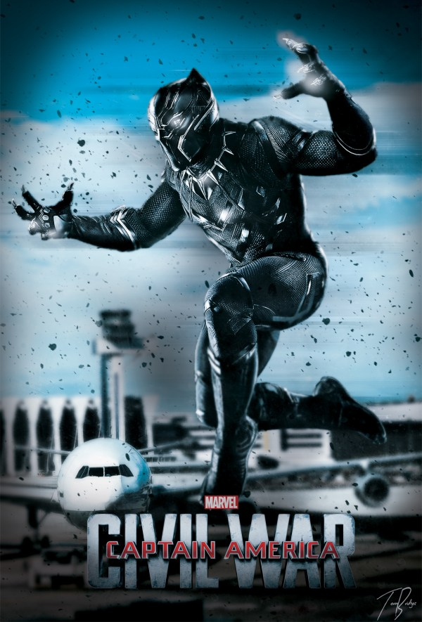 Black Panther Marvel Civil War Poster