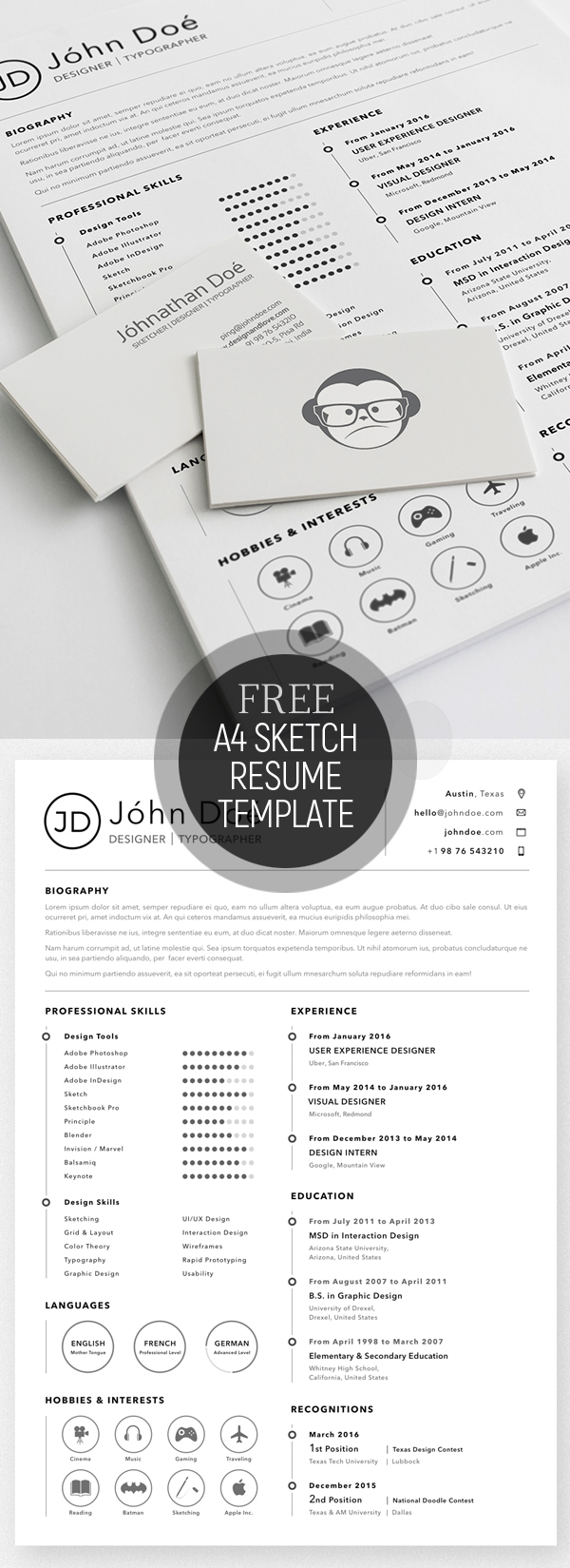Template Of A Resume 50 Free Cv Resume Templates Best For 2019 Design Graphic